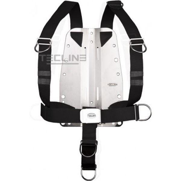Billede af Tecline rustfri bagplade 3mm med DIR harness