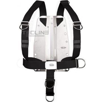 Billede af Tecline rustfri bagplade 3mm med justerbar harness