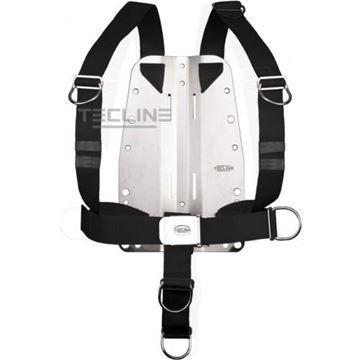 Billede af Tecline rustfri bagplade 6mm med DIR harness