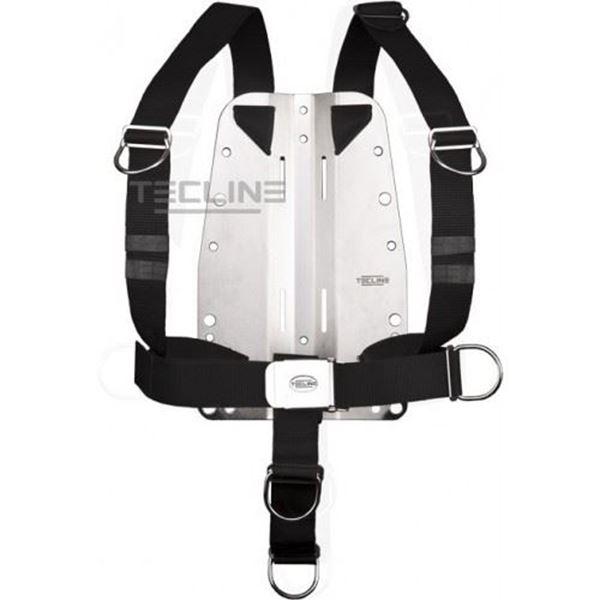 Billede af Tecline alu bagplade med DIR style harness