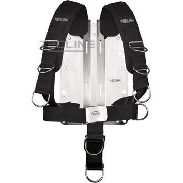 Billede af Tecline rustfri bagplade 3mm med komfort harness