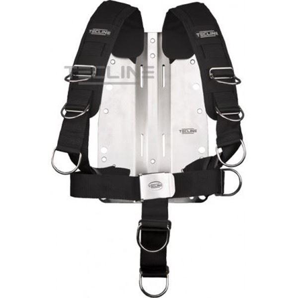Billede af Tecline rustfri bagplade 6mm med komfort harness