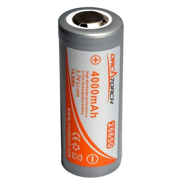 Billede af OrcaTorch 26650 batteri (UDSOLGT)