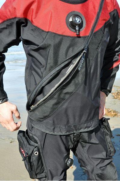 Billede af Skift af lynlås på tørdragt front