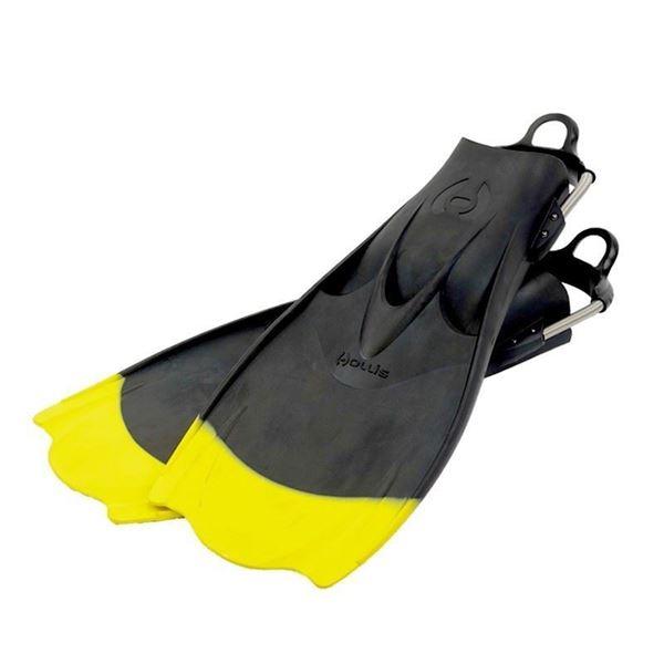Billede af Hollis F1 gummifinner - Yellow Tip