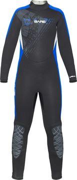 Billede af BARE 5/4mm Manta Full Blue Neopren Dykkerdragt - Junior