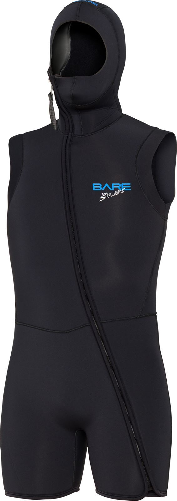 Bare 7mm step-in hooded vest S-FLEX BLK thumbnail