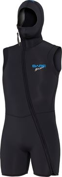 Billede af Bare 7mm step-in hooded vest S-FLEX BLK