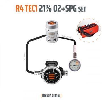Billede af Tecline - Regulator sæt R4 TEC 1, 21% O2 G5/8 Stage set