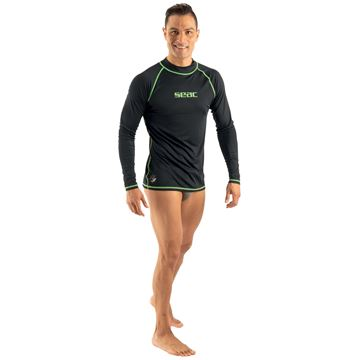 Tsun Seac Rashguard lang grøn sort