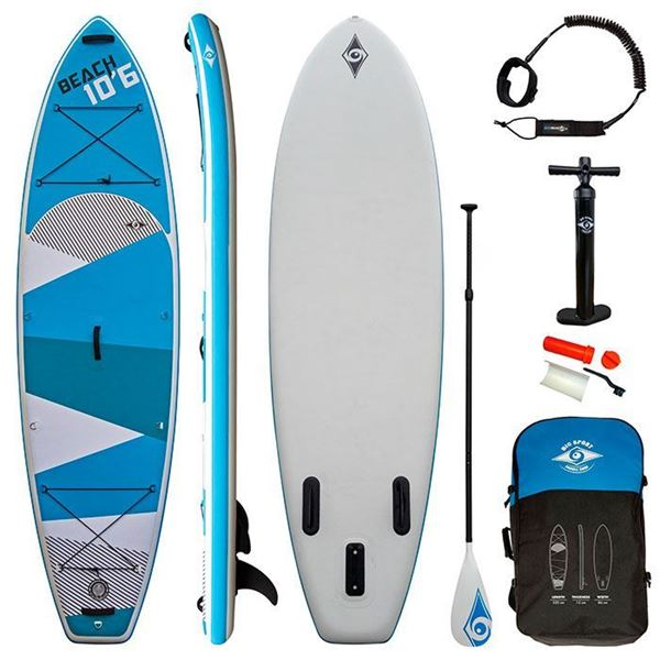 Billede af BIC Beach Oppustelig Stand Up Paddle Board 10'6 - pakke